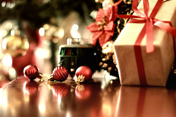 retro toned gift christmas ball