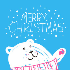 Christmas card. Vector illustration EPS10.