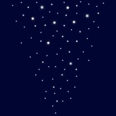 Rain of twinkling stars. Vector illustration EPS10.