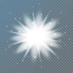 Star burst with sparkles.Vector illustration EPS 10.