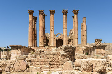 The ancient temple of Artemis in Jerash