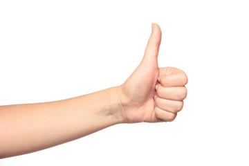 Thumb up gesture Wall mural