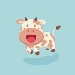Cute cow cartoon.