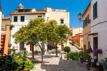 Poggio village in Elba Island, Italy