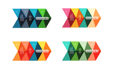 Vector colorful business infographic template or web banner layout