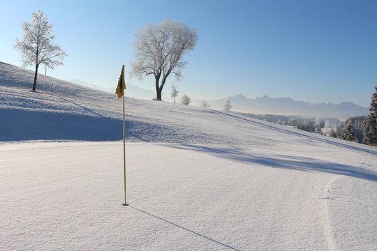 Golfparadies im Winter