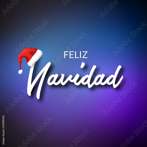 Feliz navidad merry christmas card template with greetings in merry christmas card template with greetings in spanish language feliz navidad vector m4hsunfo