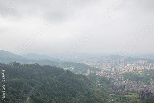 Ariel view from Cable car ( Maokong Gondola), Wenshan
