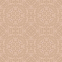 Neutral Seamless Linear Flourish Pattern in pale dogwood color.