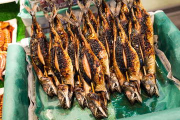Salted grilled fish