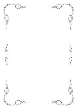 Rectangular vignette frame. A4 page proportions.