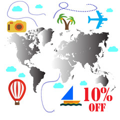 Discount travel 10 percent