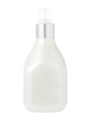 Spray head bottle of cream for cosmetic skin care