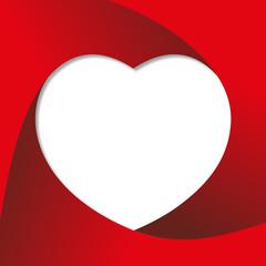 Coeur - St Valentin - amour - message - invitation