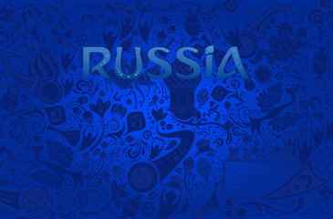 Russian blue background, vector illustration