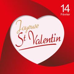 St Valentin - Carte - Amour - Sentiment