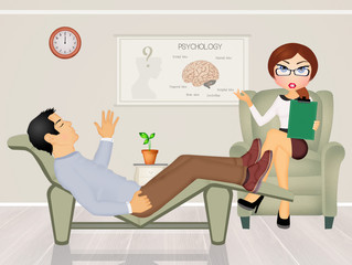 patient talking to psychologist