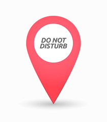 Isolated map mark with    the text DO NOT DISTURB
