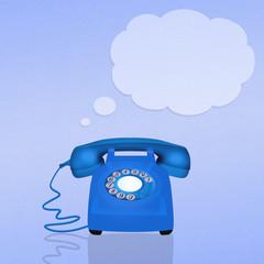 light blue phone