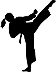Karate fighter woman