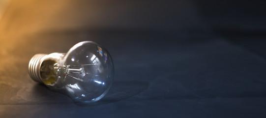 Light bulb on a dark background