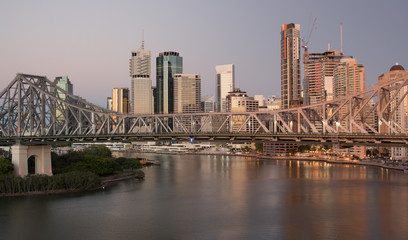 Skyline Brisbane day and sunrise