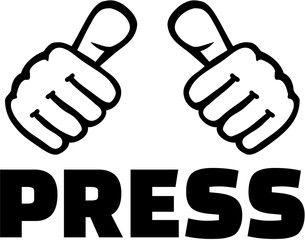 Press with thumbs