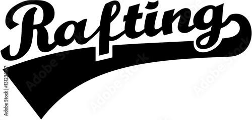 rafting word retro stockfotos und lizenzfreie vektoren auf bild 131234187. Black Bedroom Furniture Sets. Home Design Ideas