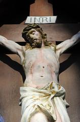Kruzifix, Jesus Christus am Kreuz  INRI