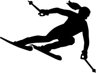 Woman Skier silhouette
