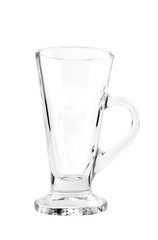 Beer glass / Empty beer glass on white background.