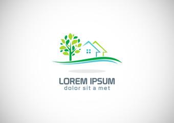 house tree garden ecology logo