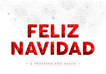 Merry Christmas New Year spanish language quote