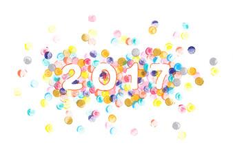 Aquarell Silvester und Neujahr 2017