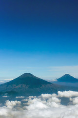 Sindoro sumbing mountain indonesia