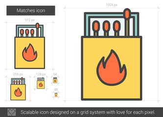 Matches line icon.