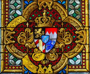 Vidriera de la catedral de Colonia, Alemania, arquitectura gótica