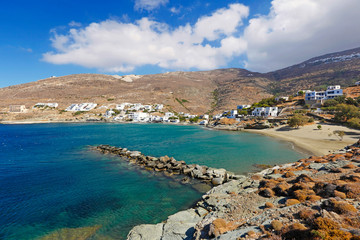 The village Isternia in Tinos island, Greece