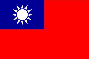 Taiwan flag, Flag of the Republic of China, 青天白日滿地紅,  National flag of Taiwan