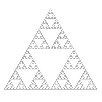 the sierpinski triangle, fractal iterated shape