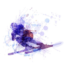 Vector illustration of the skier