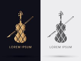Golden Violin graphic vector
