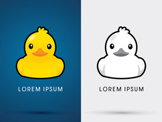 Duck icon graphic vector Wall mural