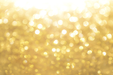 Gold abstract background with bokeh
