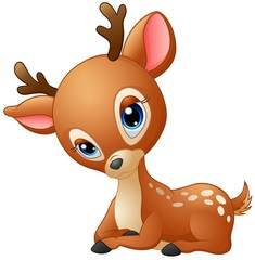 Cute baby deer cartoon