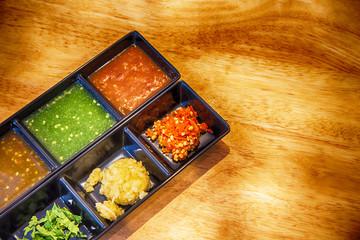 Shabu sauce and Condiment for Shabu Shabu,Set of Sauce for Shabu shabu style