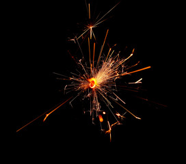fire sparks, fire flame on black background