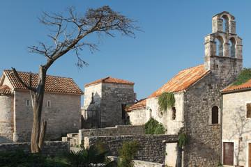 The Catholic church of Santa Maria in Punta an old fortress in Budva.