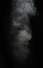 Abstract white smoke