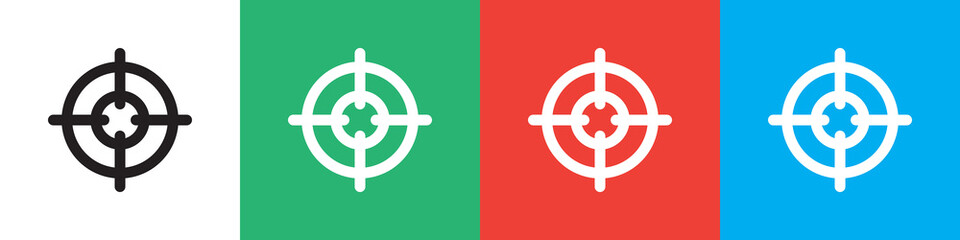 sniper target icon illustration